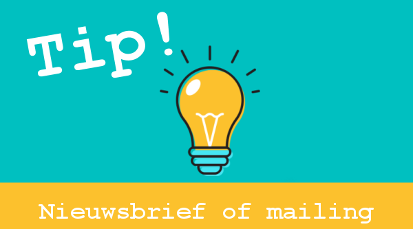 Nieuwsbrief of mailing webshops