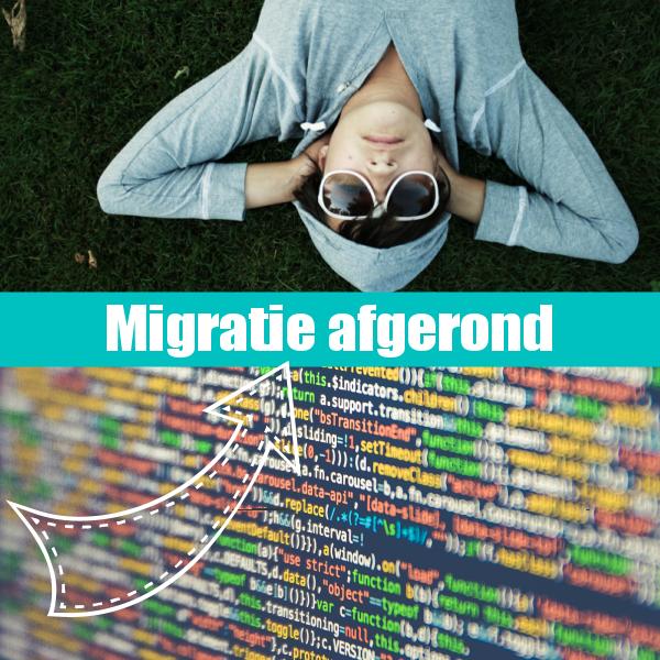 Migratie webwinkels succesvol afgerond